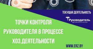 Точки контроля руководителя в процессе хозяйственной деятельности организации здравоохранения (окончание)